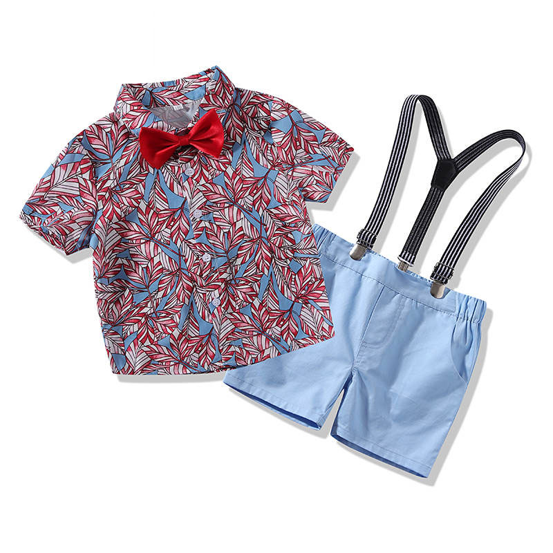 bdf1d82d0 Baby Shirt Suspenders Outfit With Bow Tie Mylovehoney Clothing
