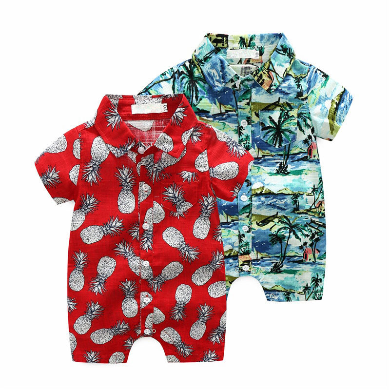 709953236ae5 Baby Beach Romper in Floral Pattern | MyLoveHoney Baby Clothing